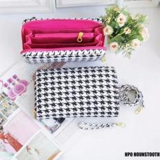 EL PIAZA HPO Wallet Hounstooth - Dompet Multifungsi Serbaguna Clutch Bag - Sling Bag Tas Genggam