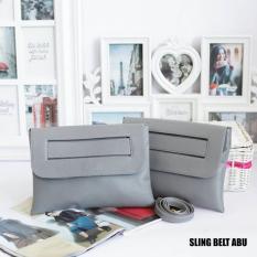 EL PIAZA Sling Belt Women Clutch Bag - Sling Bag Tas Genggam Tas Slempang Tas Pesta Tas Bahu Modis Wanita Kekinian - Grey