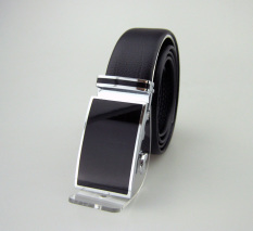 Elegant And Simple Black Belt For Males Which Is Made Of Cowskin Material With Automatic Buckle In High Quality And Low Price. - Intl