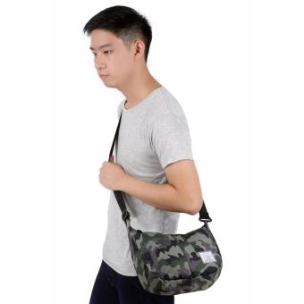 Elfs Shop - Tas Selempang Messenger Crossbady Shoulder Bag 1522 Army Canvas-Hijau Army
