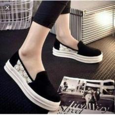 Ellen Grosir - Sneaker Wanita DOV.01 (Hitam)