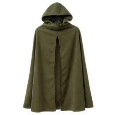 EOZY Fashion Ladies Women Hoodies Trench Coats Korean Style Autumn Winter Long Sleeve Winter Coats Tops (Olive Green) (Intl)