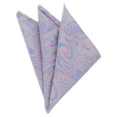 "EOZY Men's Elegant Business Pocket Square Fashion Flower Design Pocket Square A€"" Purple"