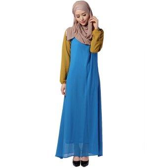 24bc315b45fb7 Harga EOZY Fashion Women Muslim Wear Muslim Robes Islam Style Female ...