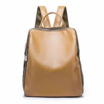 Eropa dan Amerika perempuan angin pasang tas tas bahu baru (Khaki coklat)