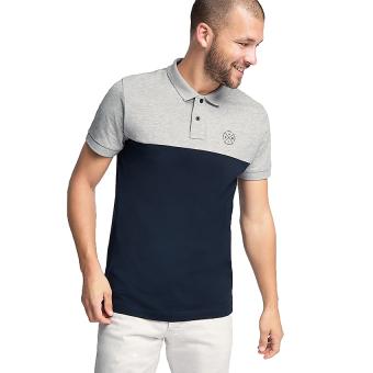 Esprit Colour Block Jersey Polo Shirt - Navy