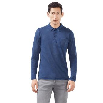 Esprit Cotton-Jersey Polo Shirt - Navy