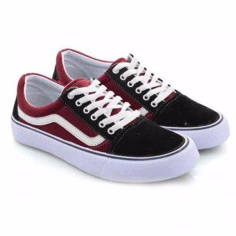Everflow Sepatu Sneaker Casual Canvas Wanita - Maroon