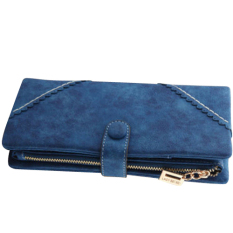 Fang Fang Women Fashion Leather Wallet Button Clutch Purse Lady Long Handbag Bag (Royal Blue)