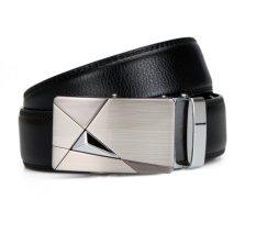 Fashion Design Men's Belt Automatic Buckle Leather Belt Men's Leather Belts For Men Belt Brand (Black) (Intl)