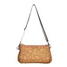 Fashion Girl Lovely Canvas Handbag Women Daily Single Shoulder Handbag Female Canvas Beach Bag Women Canvas Tote (Khaki) - Intl