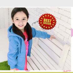 Fashion Hoodie zipper Kids - light Bue