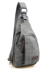 Fashion Men's Canvas Satchel Military Bag Cross Body Handbag Messenger Shoulder Gray