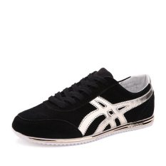 Fashion Men's Lace-up Sneakers Sports Running Shoes Black (Intl)