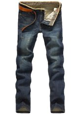 Fashion Mens Stylish Straight Slim Fit Long Jeans Trousers Casual Jeans Pants Blue