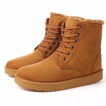 Fashion Men's Winter Warm Casual High Shoes Ankle Snow Boots(coffee) - intl