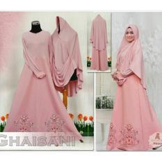 FASHION MUSLIM / Gamis Jumbo Bordir Gaisa- Gamis- Baju Gamis Wanita- Gamis Bigsize Pink