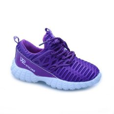 Fashion new children's mesh breathable leisure sports shoes(Purple) - intl
