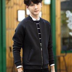 Fashion New Men 's Cotton Zipper Leisure Jacket - Intl