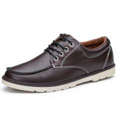 Fashion New Men's Leisure Retro Matte Leather Shoes (Brown)