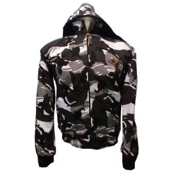 fashion pria jaket DC parasut bolak-balik army white-hitam keren.