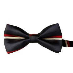 Fashion Rayon Bow Tie Grid Men And General Neckties Tie Black + White + Red - Intl