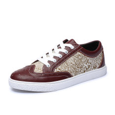 Fashion Simple Men Classic Skater Shoes Wine Red
