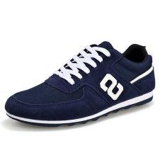 Fashion Simple Men Skater Shoes Blue