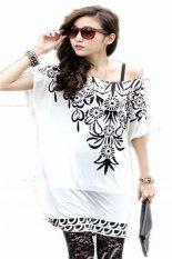 Fashion Summer T-Shirt Ladies Women O-Neck Short Sleeve Print Loose Cool Casual Mini Dress A2