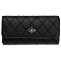 Fashion Women Lady Faux Leather Wallet Holder Card Purse Clutch Handbag Black