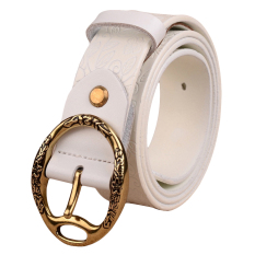 Fashion White Belts Women Fashion Belts 100% Cowhide Genuine Leather Belts For Womens Vintage Classic Correas De Mujer
