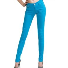 Fashion Women Ladies Casual Pencil Skinny Leg Slim Pants Stretchy Jeans (Intl)
