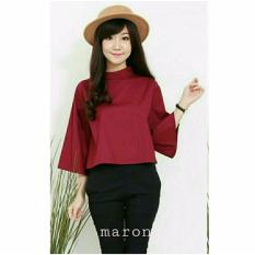 Fashionshop Blouse Gaine Maroon