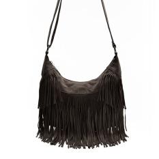 Fashon Women Handbag Vintage Fashion Tassel Cross Body Bag One Shoulder Bags Women Messenger Bags Coffee - Intl