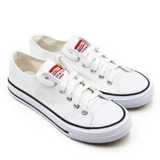 Faster Sepatu Sneakers Kanvas Wanita 1603-03 - White