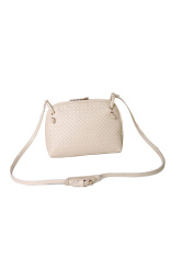 Faux Leather Shoulder Bag (Beige)