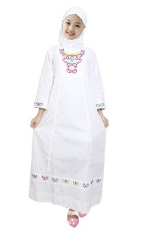 Fayrany Busana Muslim Anak Gamis Putih Fgp 003b Putih