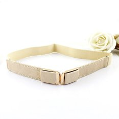 Feelontop New Hot Selling Fashion Designer Elastic Ribbon Pu Leather Belts (Intl)