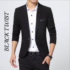 Fesyen Zone Blazer Black Twist - Hitam