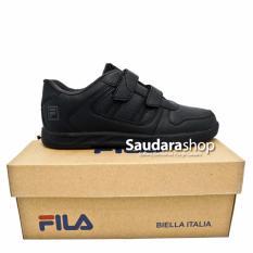 Fila Gizmo Sepatu Sekolah Anak [35-38] Velcro / Sepatu Sekolah All Black