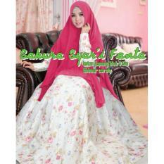 Flavia Store Baju Muslim Wanita Syar'i FS0616 - FANTA / Gamis Syari Modern / Maxi Dress / Gaun Panjang Muslimah / Hijab Modis / Rosakura