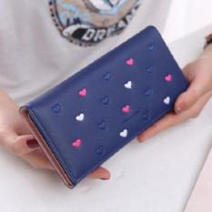 FLONE - Dompet Panjang Wanita Motif Love Biru - FD01 - Womens Wallet