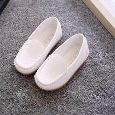 Four Seasons anak laki-laki dan anak perempuan sepatu santai warna Solid Princess Fashion sepatu yang lembut-putih - International