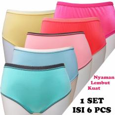 Fs'Fashion-Ladies Colourfull Panties / Celana Dalam Wanita POLOS ( 6 Pieces)