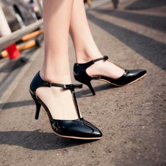 Fuboshoes Sepatu Wanita High Heels Xenia Hitam Uk.36