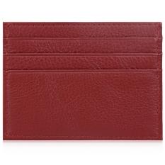 Gajah bulat Lichee Pattern Horizontal membuka dompet kartu unisex (merah) - ต่าง ประเทศ