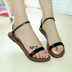 Galaxy Sandal Teplek Nafiza Black NFZ-008