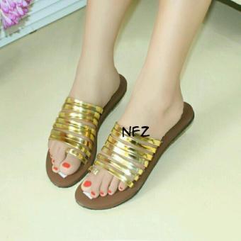 Galaxy Sandal Teplek Nafiza Gold NFZ-001