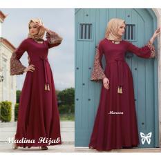 Gamis / Baju Wanita Muslim Madina syari Maroon