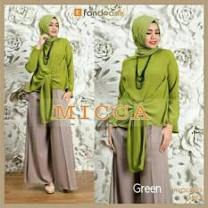 Gamis / Baju Wanita Muslim Micca Syari 3in1 (Green)